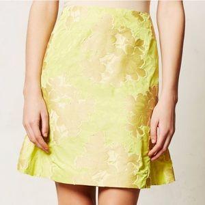 Leifsdottir Yellow Floral Skirt Sz 2 ::XF29